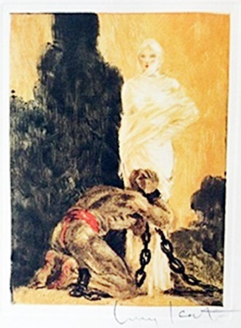 "Color Etching ""Shackled Soul""     Louis Icart"