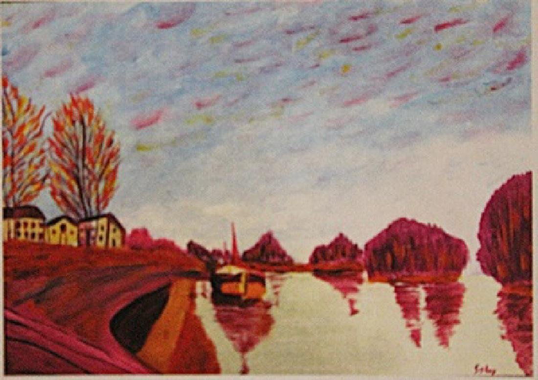 Alfred Sisley - Canal Saint Martin