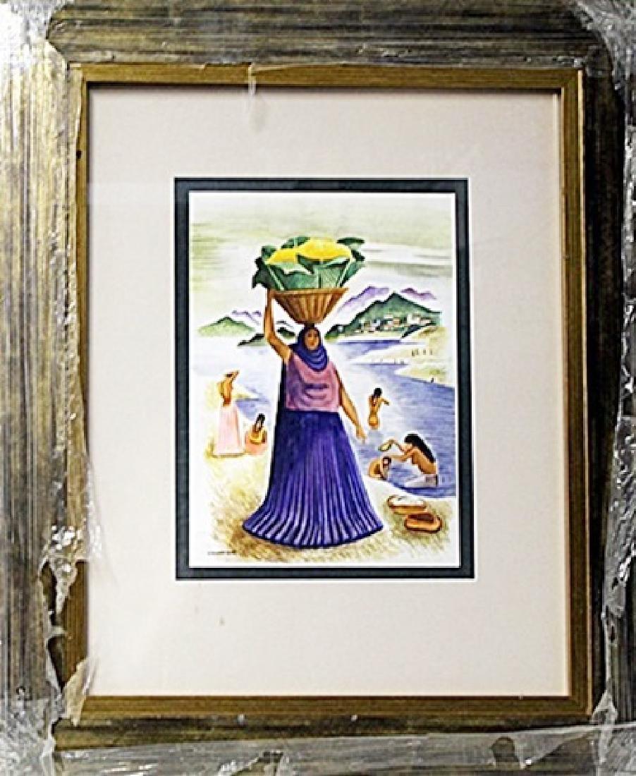 Watercolor on Paper  Miguel Covarrubias