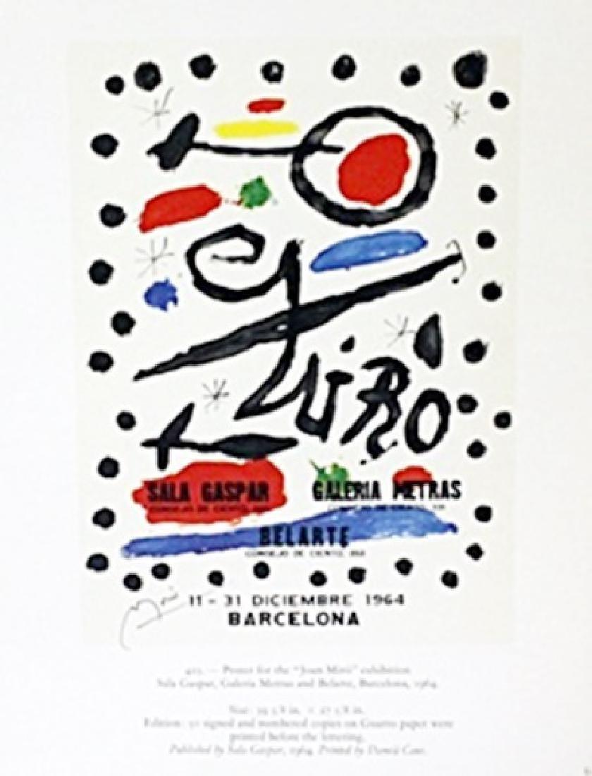 "Lithograph ""Barcelona""     Joan Miro"