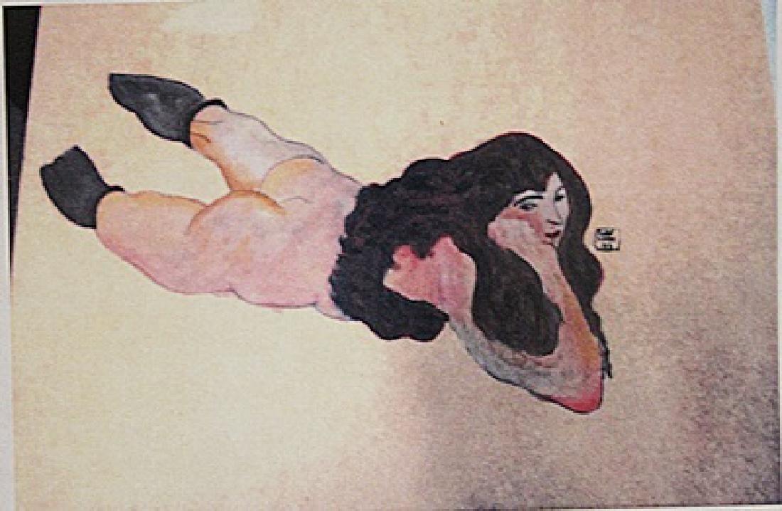 Egon Schiele - Nude Girl