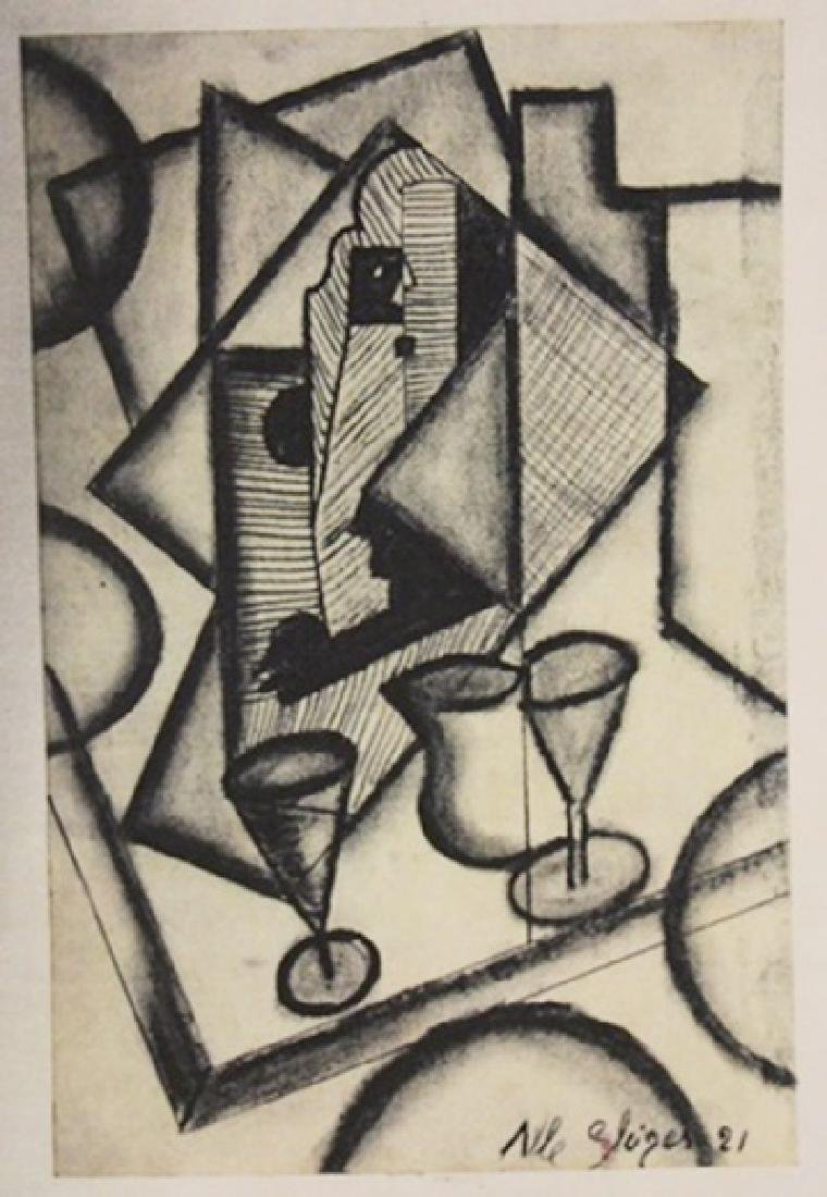 Albert Gleizes - Table With Cups