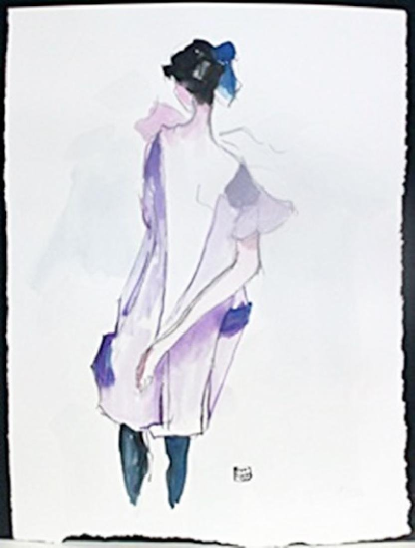 Watercolor Painting; Signed Egon Schiele