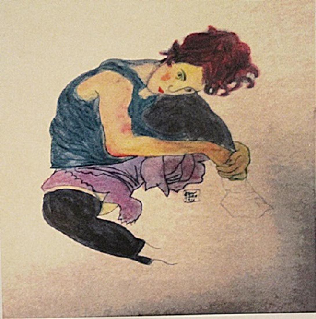 Egon Schiele - Portrait Of A Girl