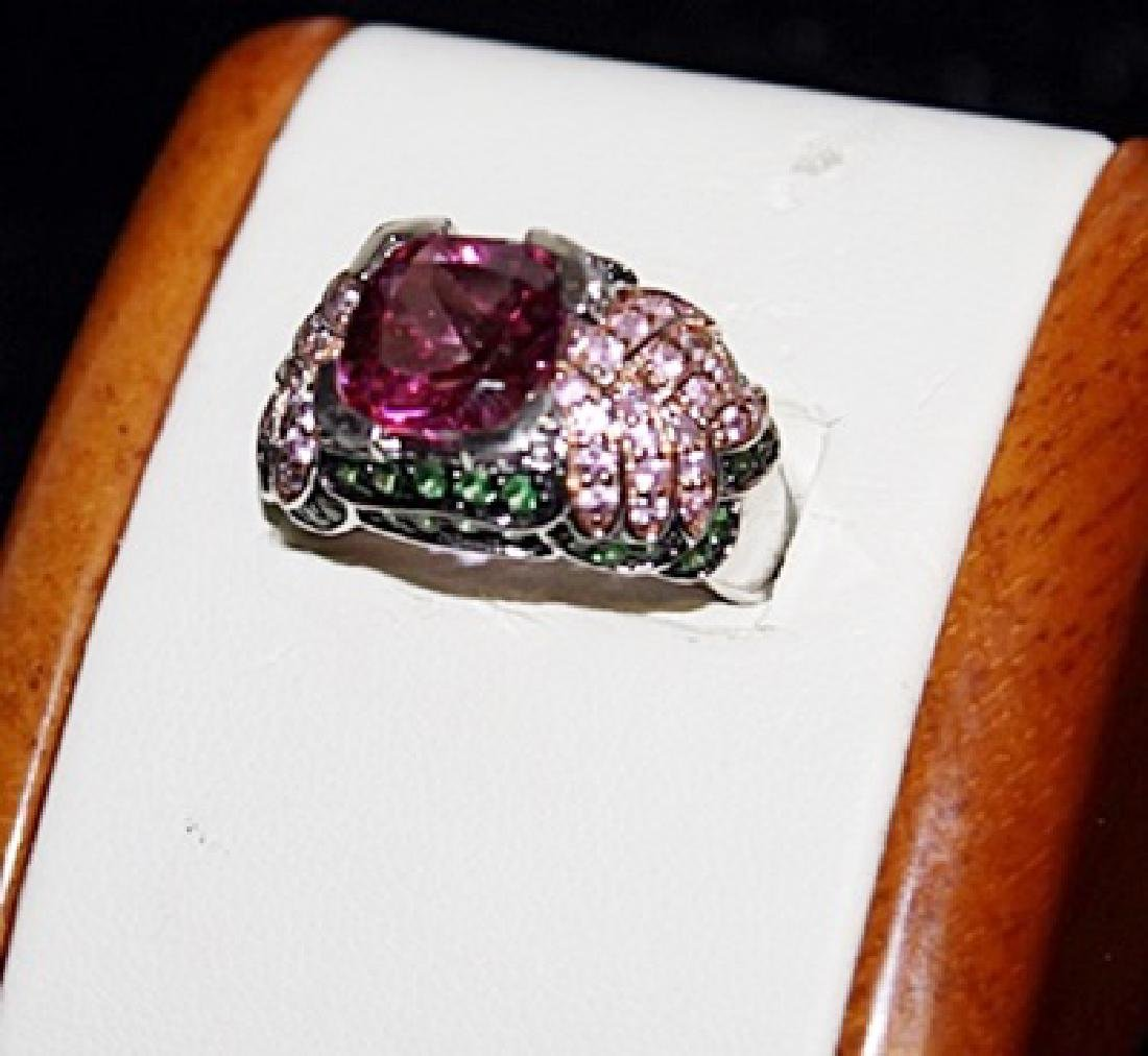 Beautiful Russian Chrome Diopside, Lab & Pink Sapphire