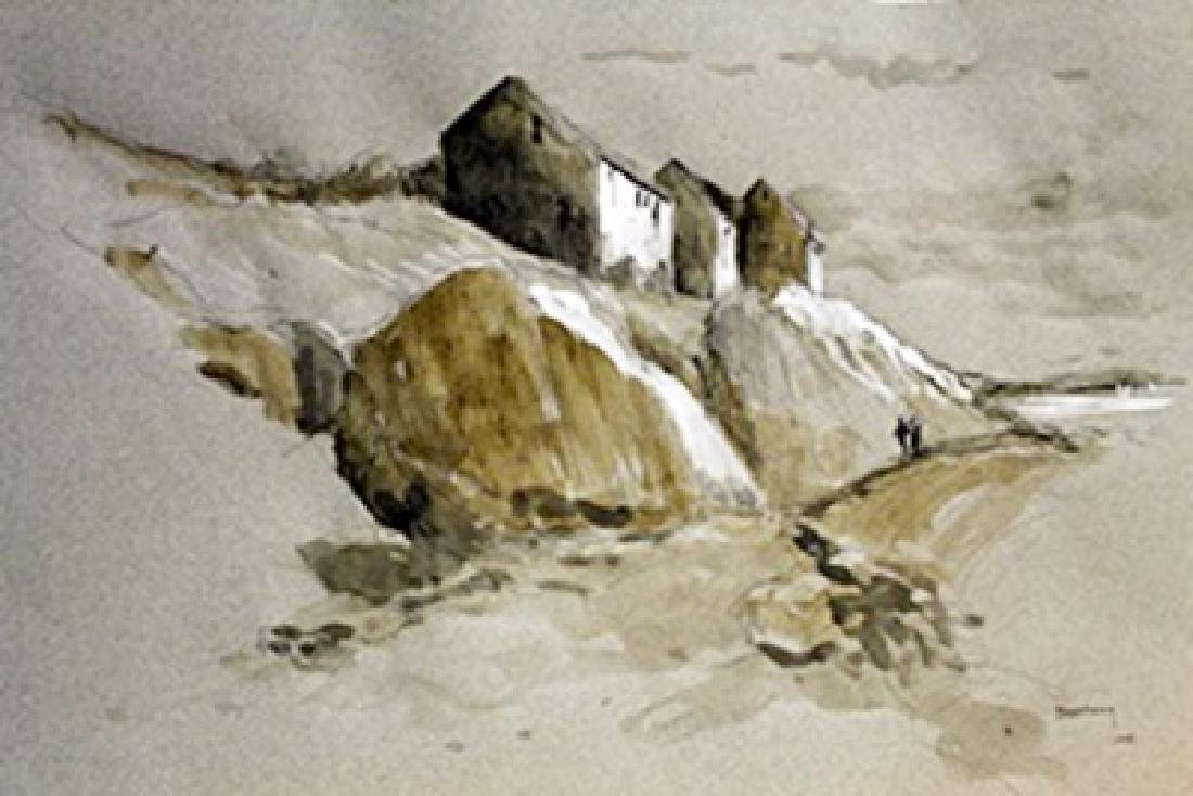 Untitled - Watercolor by Bartholomeus Breenbergh