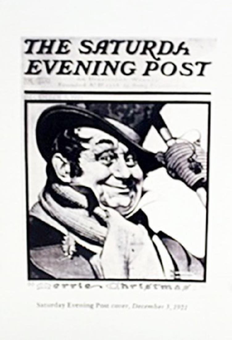 "Lithograph ""Saturday Evening Post""     Norman Rockwell"
