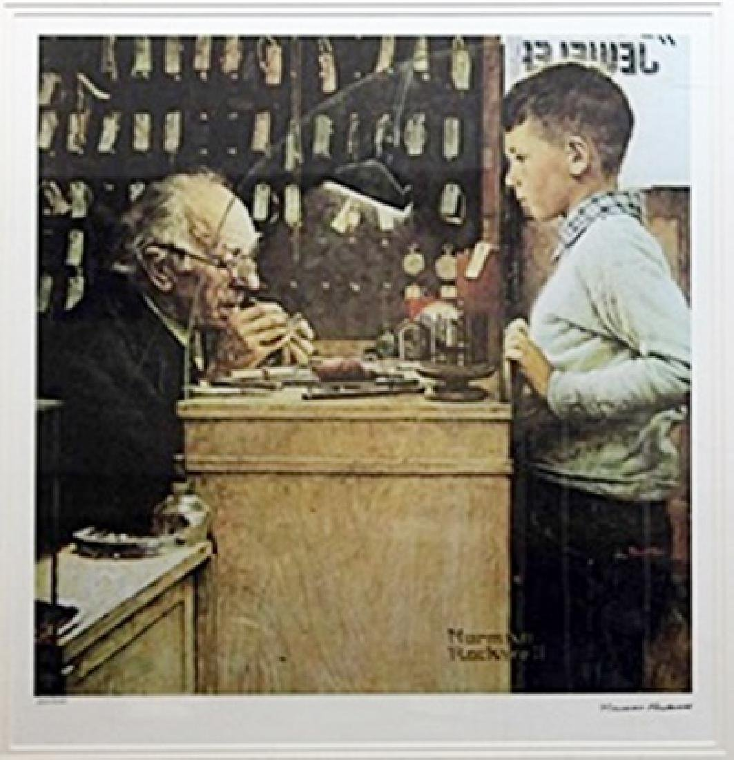 "Lithograph ""The Watchmaker""  Norman Rockwell"