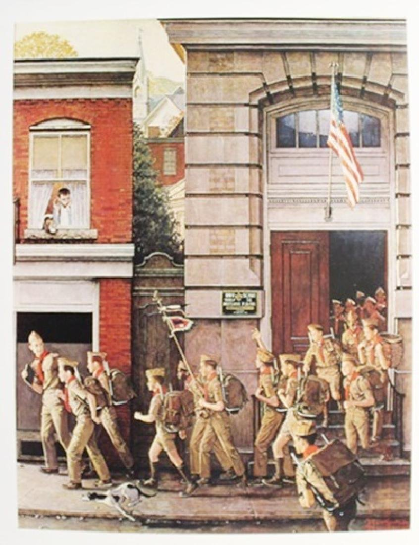 "Lithograph ""Scouting is Outing"" By Norman Rockwell"