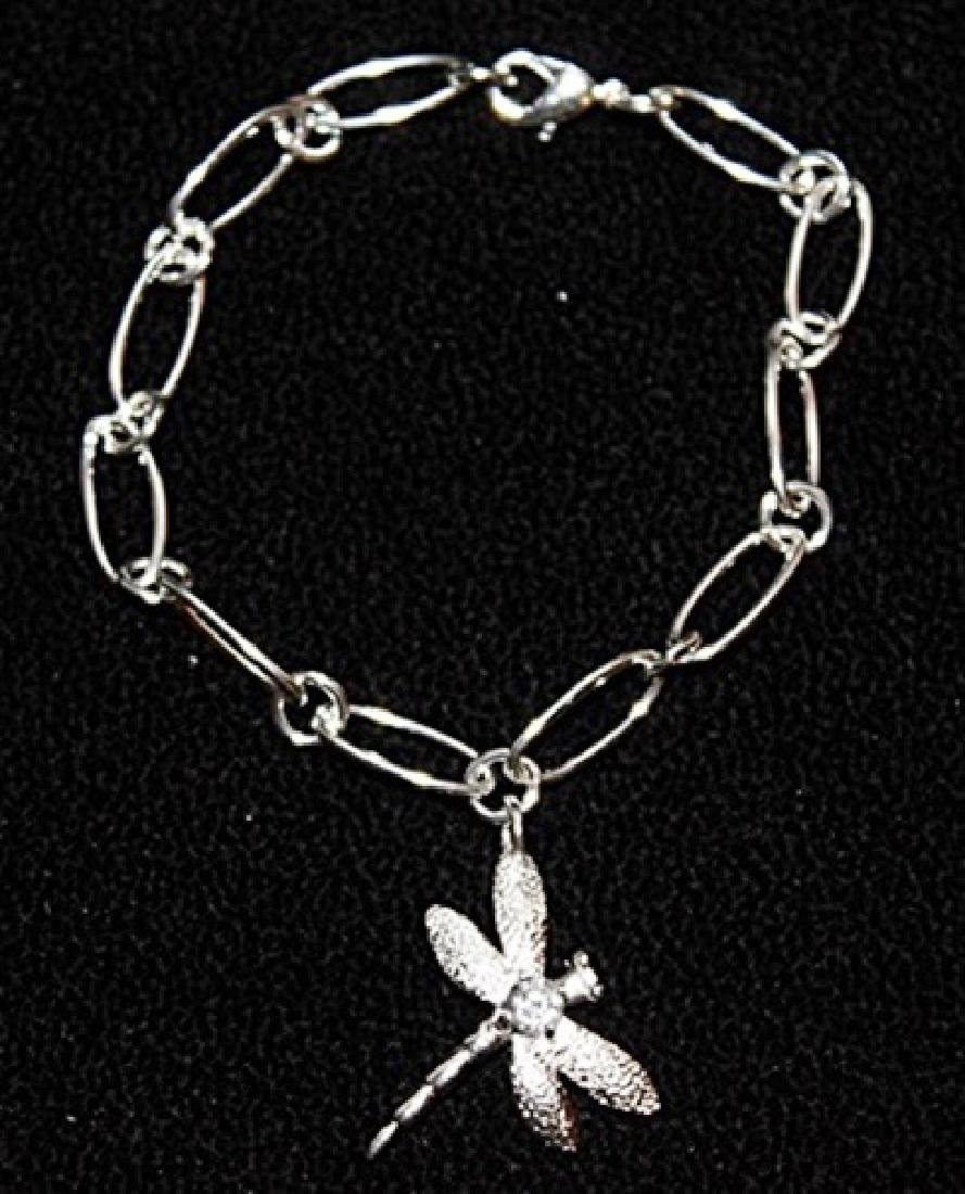 Stylish Silver Dragonfly Bracelet.
