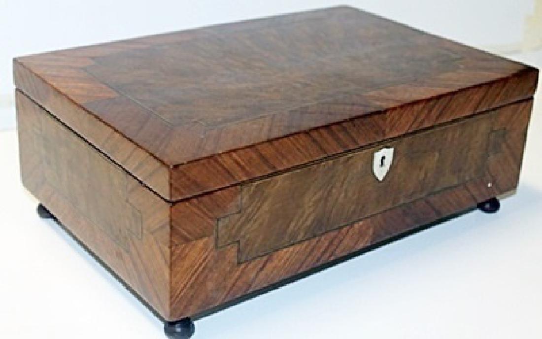 Hand Carved Antique Wooden Lockbox