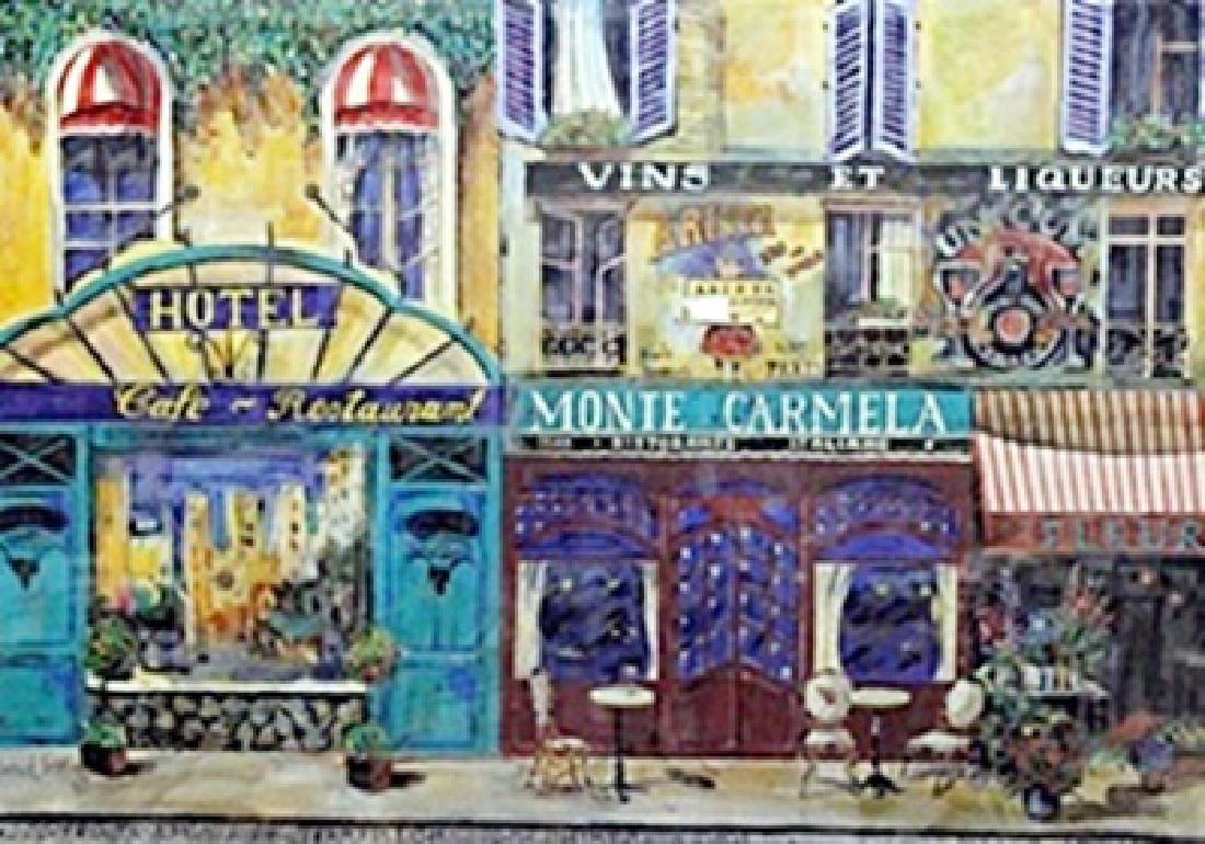 "Serigraph ""Monte Carmela""  Daniel Gerr"