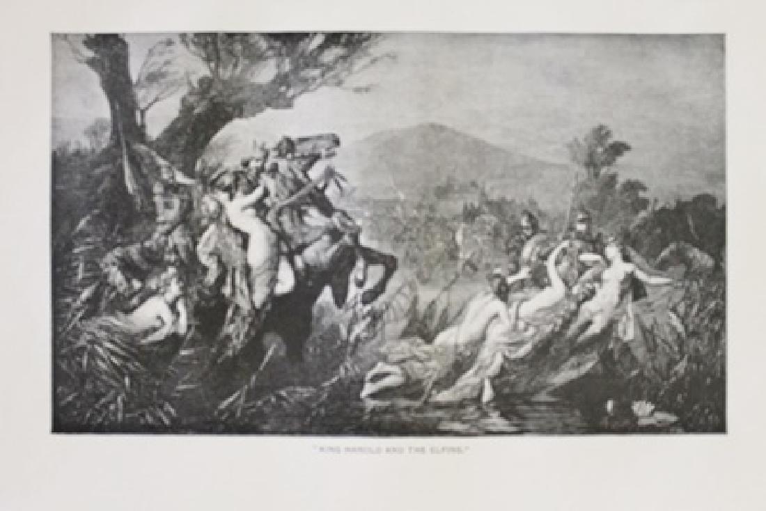 """Fine Art Illustration """"King Harold and The Elfins"""""""