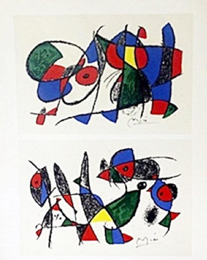 """Print """"Blue with Red""""     Joan Miro"""