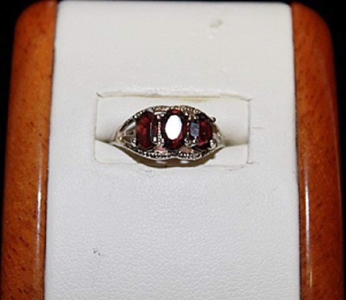 Lady's Fancy Rose Garnet Ring.