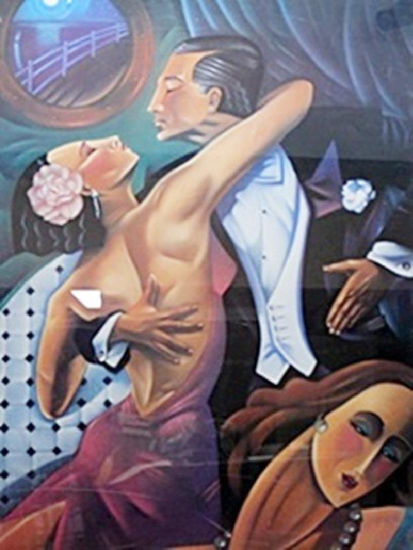 "Lithograph ""Dancers (Tango)""  Ted Young"