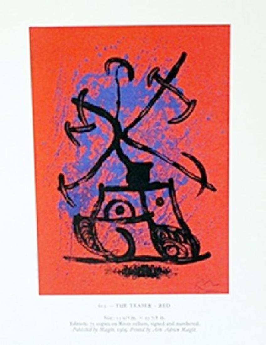 "Lithograph ""The Teaser""     Joan Miro"