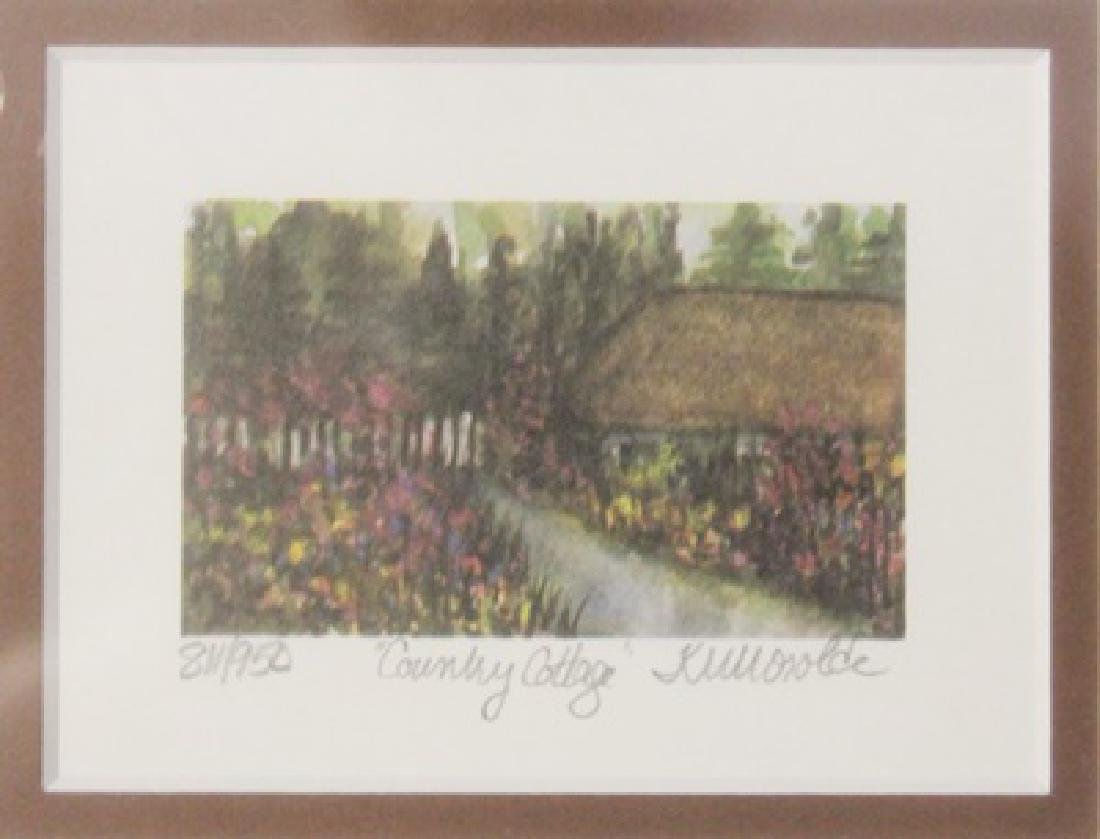 "Lithograph ""Country Cottage"" By Kathleen Morolda"