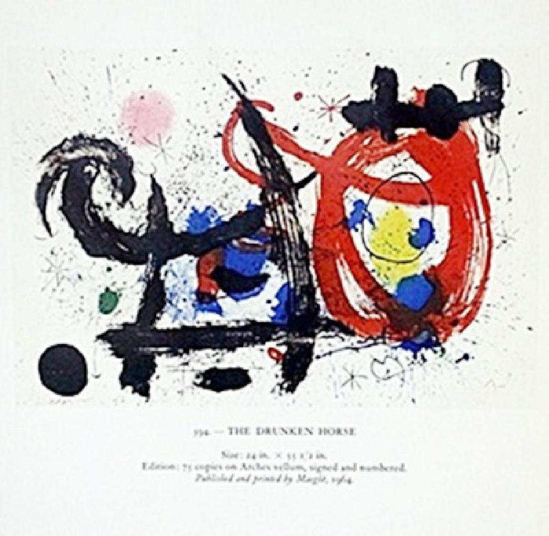 "Print ""The Drunken Horse""     Joan Miro"