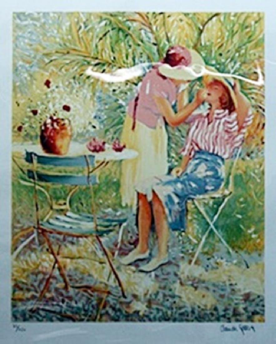 "Lithograph ""Mother & Daughter""  Claude Fossoux"