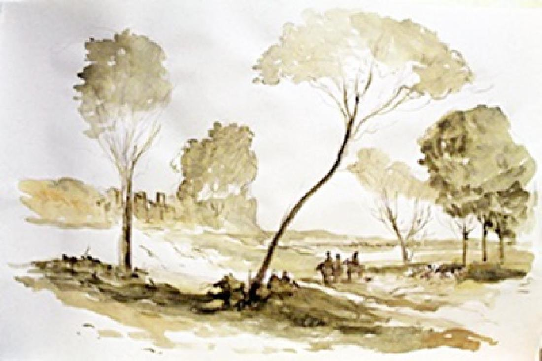 Watercolor Painting on Paper -Roelant Roghman
