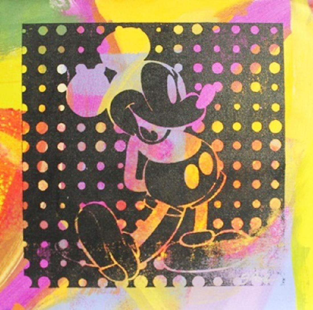 "Original/Mixed Media on Cavas ""Negative Mickey II"" By"