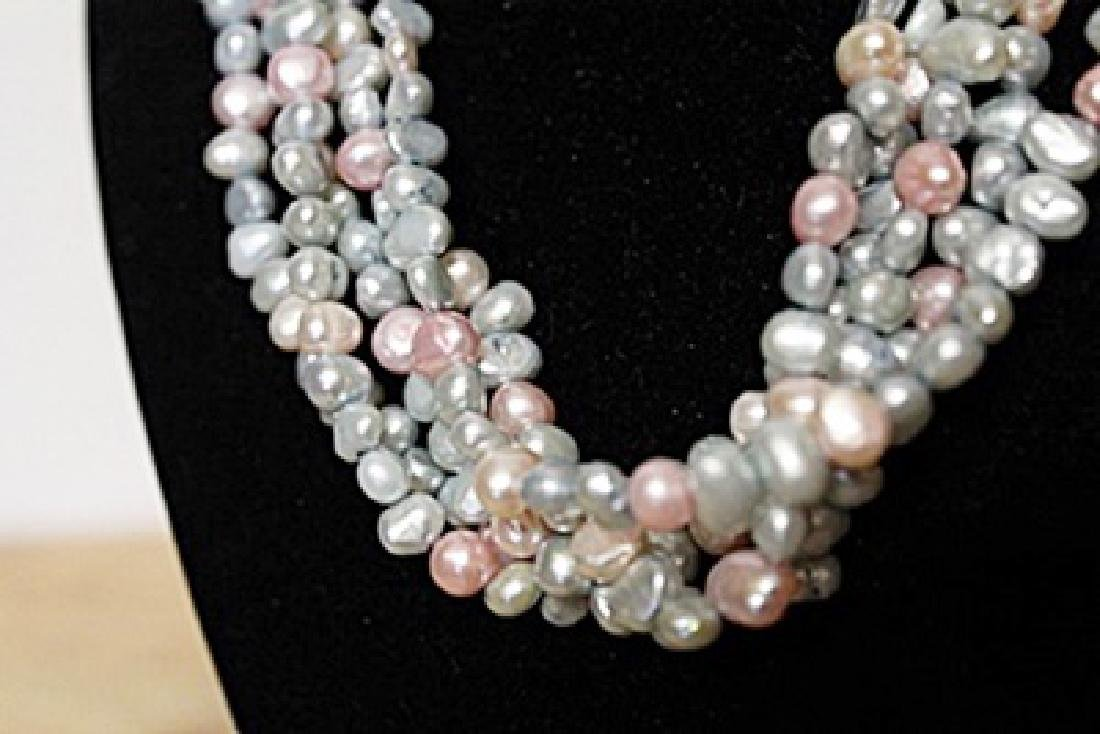 Natural Pearl's Pink Gray Black and Green - 2