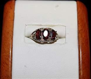 Lady's Fancy Rose Garnet Ring.