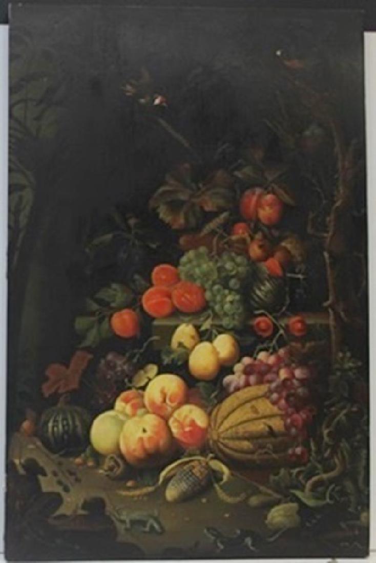 Original Oil on Wood by Abraham Mignon Fecit