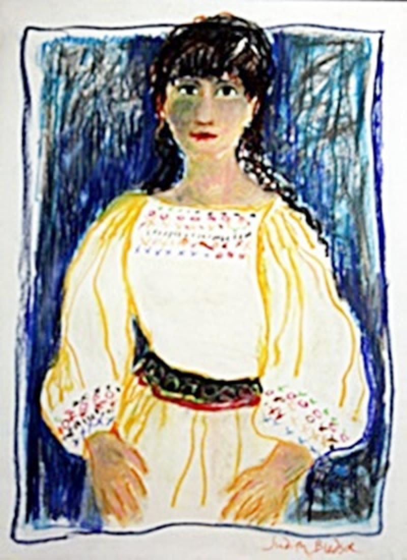Sabrina, 14 Years Old -  Painting by Judith Bledsoe