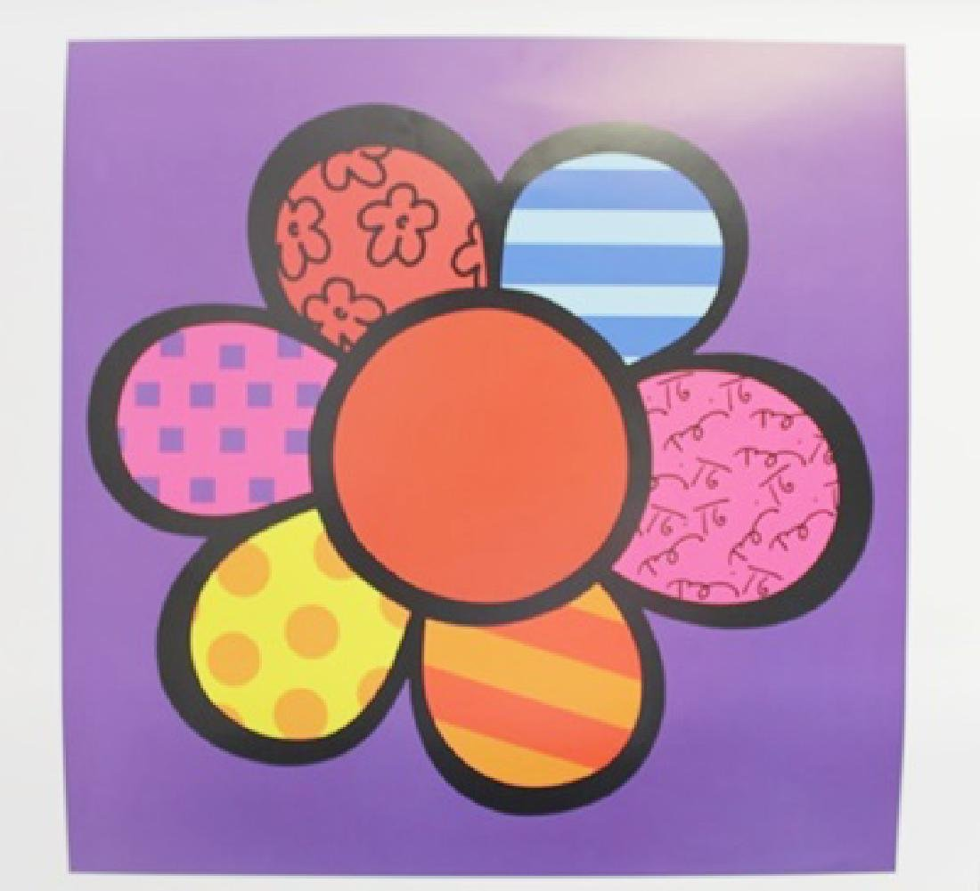 "Lithograph ""Flower Power III"" By Romero Britto"