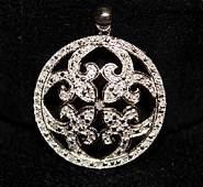 Very Fancy 10kts White Gold with Diamond Pendant.