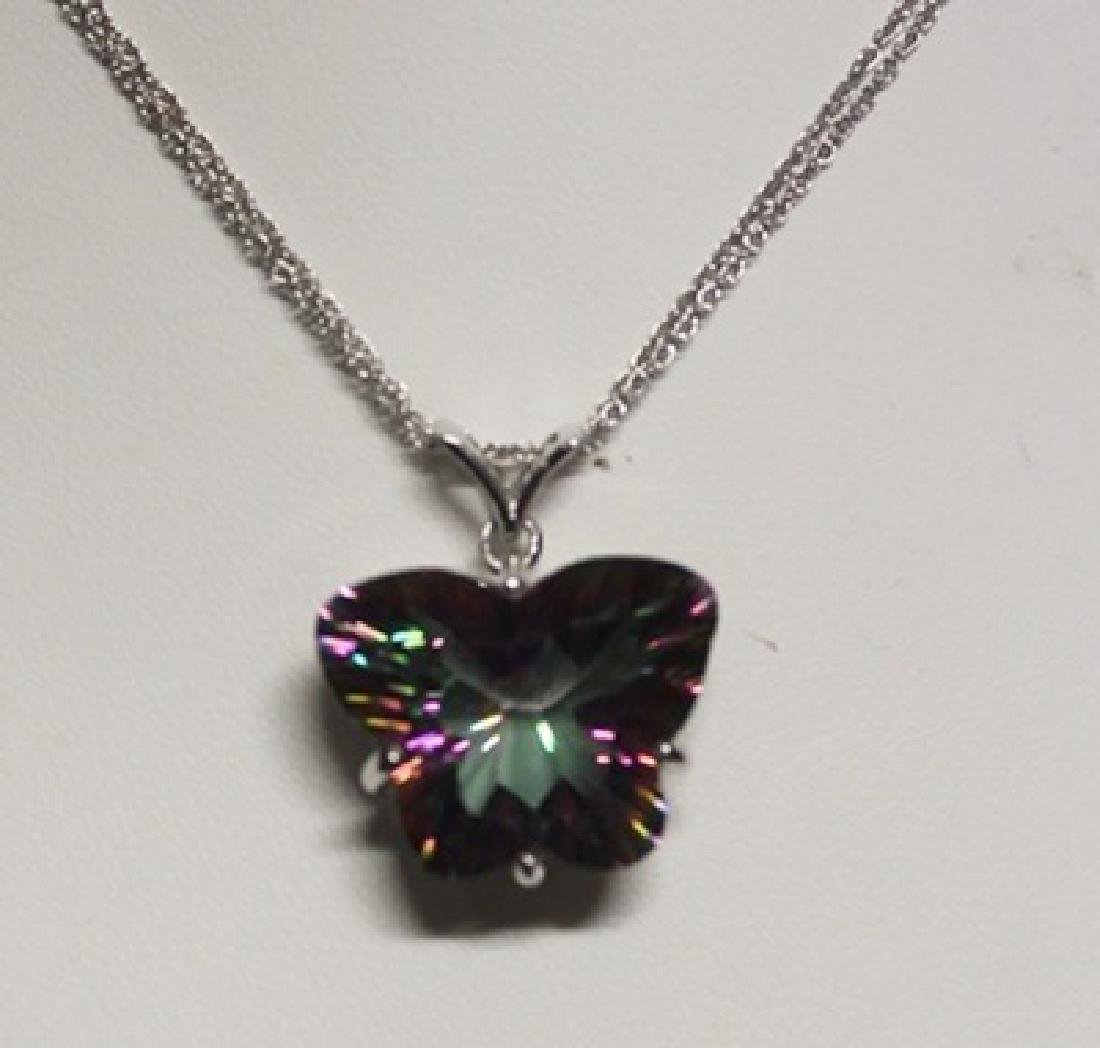 Lady's Fancy Butterfly Shaped Quartz Pendant with