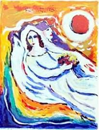 "Serigraph ""Floating Love & Peace""  Zamy Steynovitz"