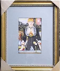 Mixed Media On Paper  Edouard Manet