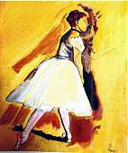The Dancer - Edgar Degas - Watercolor On Paper