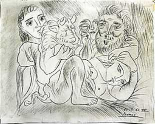 Vintage Pablo Picasso Drawings For Sale Antique Pablo Picasso Drawings