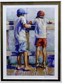 """Lithograph """"Little Fisherman""""  Lucelle Raad"""