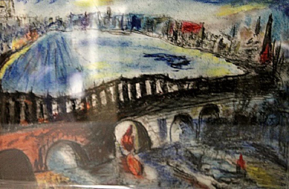 In they style of Oskar Kokoschka - The Bridge - Pastel - 2