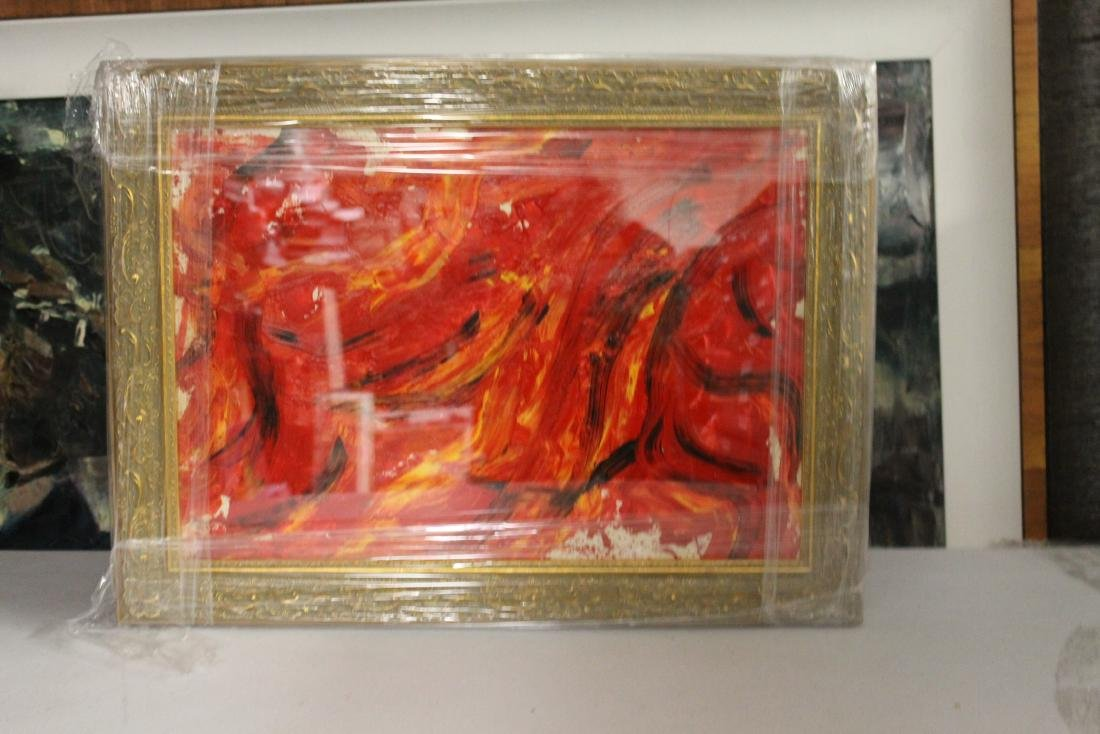In they style of Kazuo Shiraga - Improvisation - Oil on
