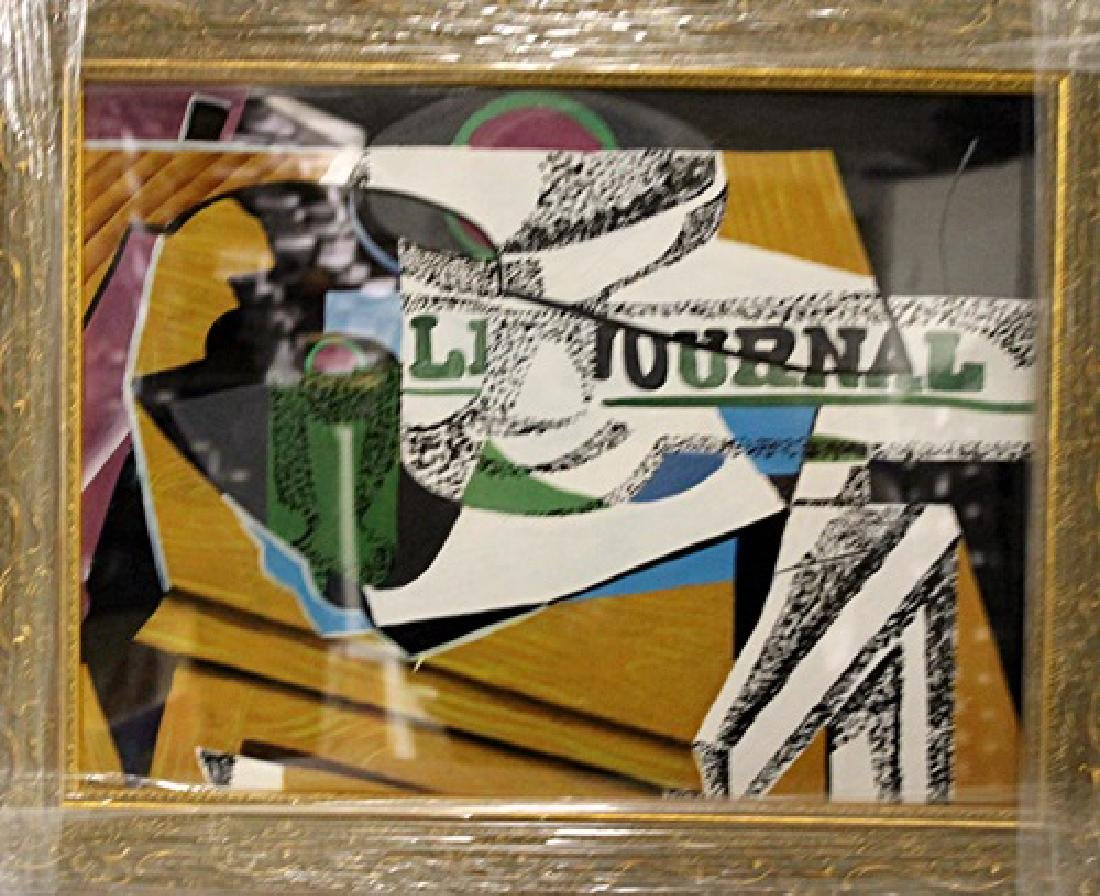 Georges Braque - Table With NewsPaper In they style of