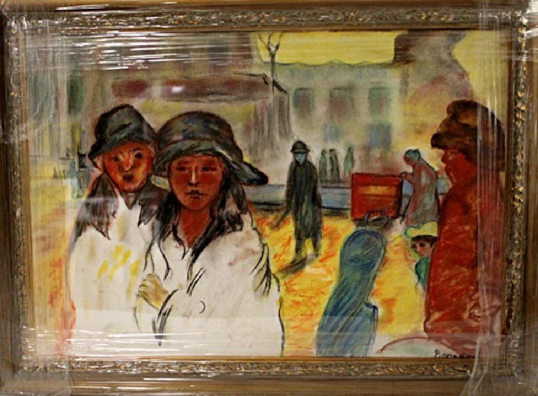 In they style of Pierre Bonnard - Two Womans - Pastel