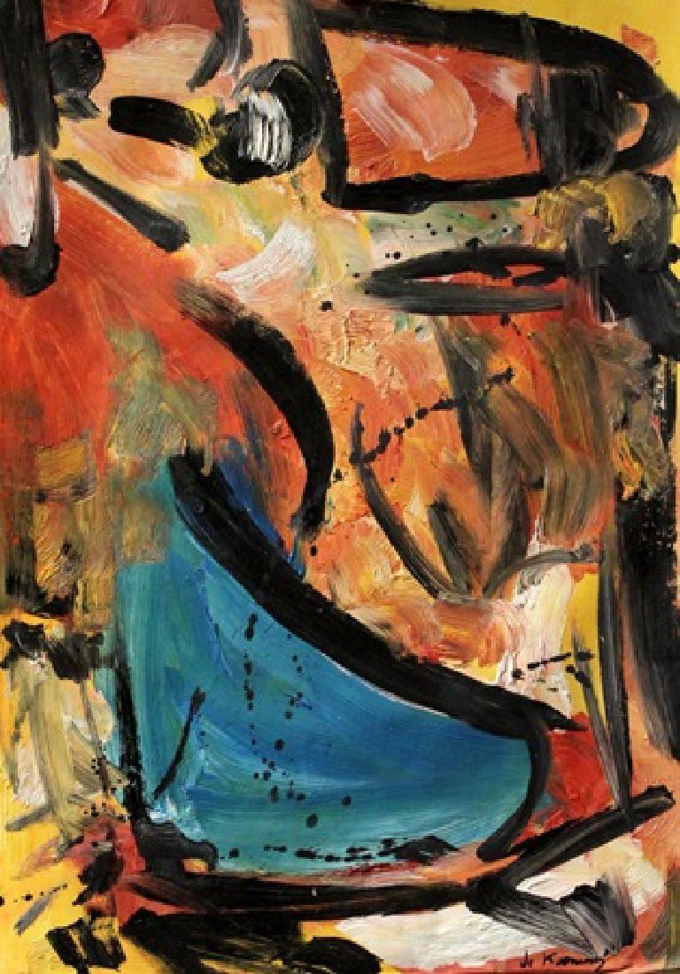 Woman III - Willen De Kooning - Oil on Paper  In the