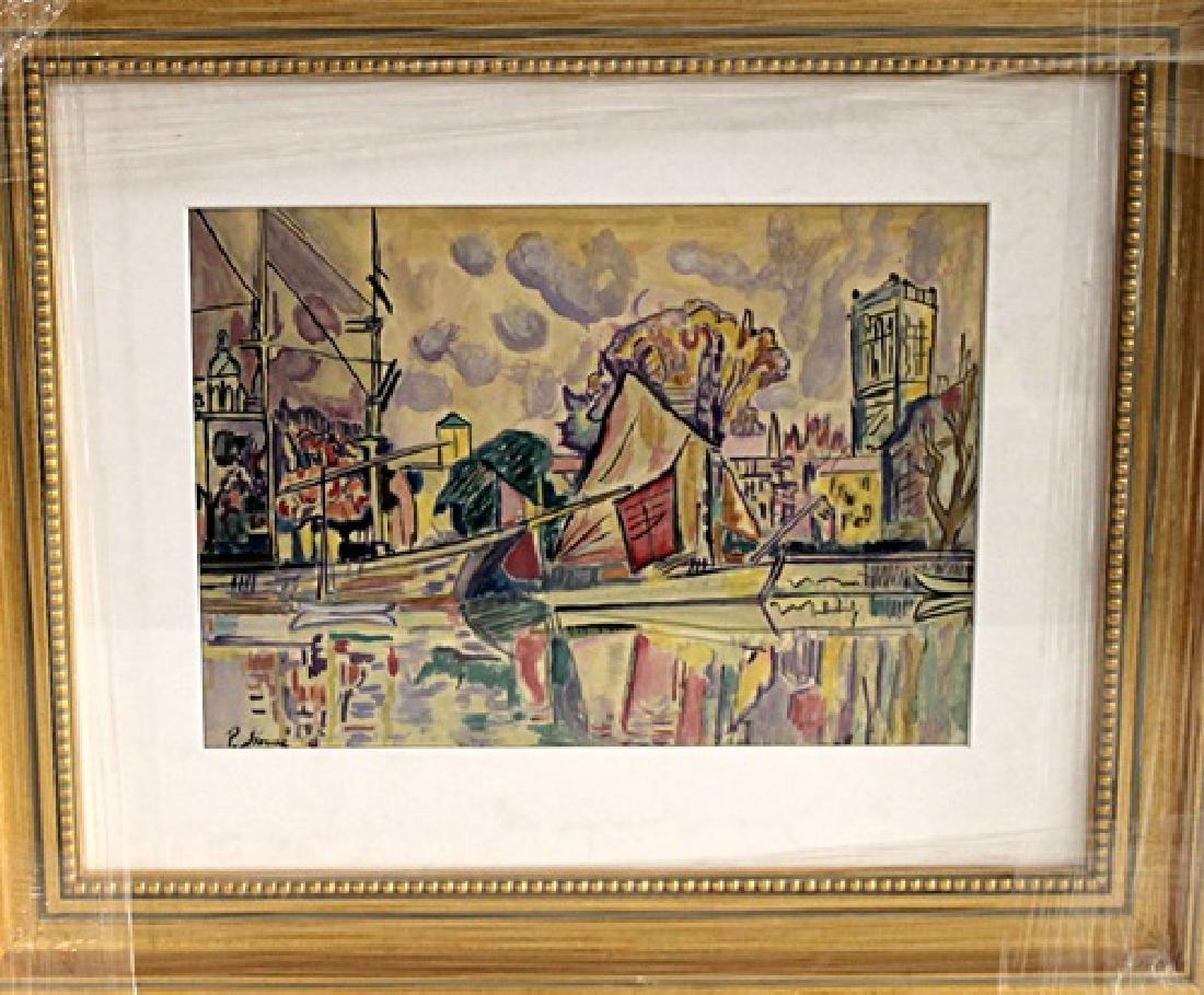 In they style of Paul Signac - La Rochelle - Watercolor