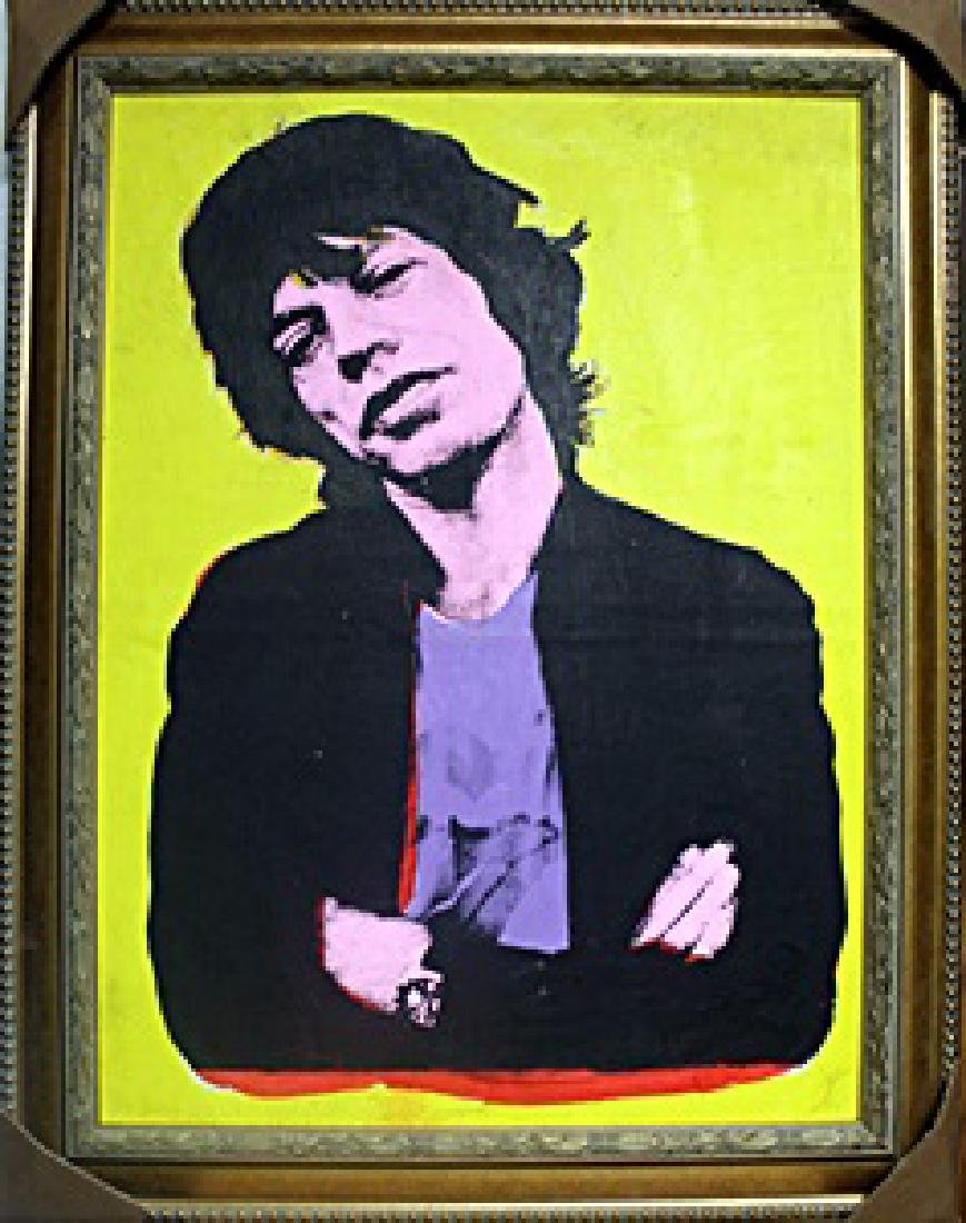 Mick Jagger 1976' In they style of Andy Warhol