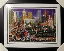 """Lithograph """"Union Square""""     Alexander Chen"""