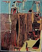 Sentados Personajes - Joan Miro - Lithograph