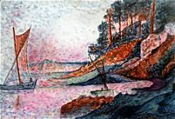 Pastel Drawing In the style of M. Vlaminck