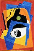 The Guitar - in the style of Albert Gleizes -