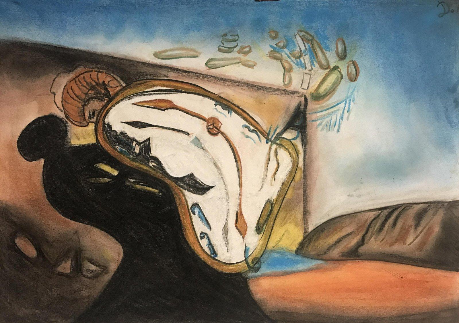 Relojes Blandos , in the style of Salvador Dali , , Sep 12
